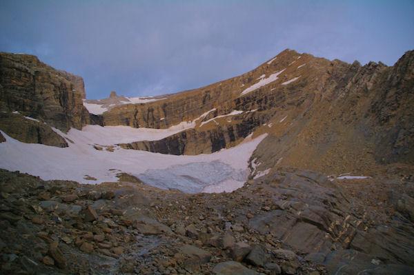 Le taillon et son glacier au petit matin