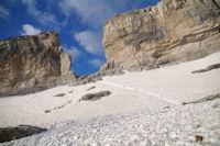 La montee du glacier de la Breche de Roland