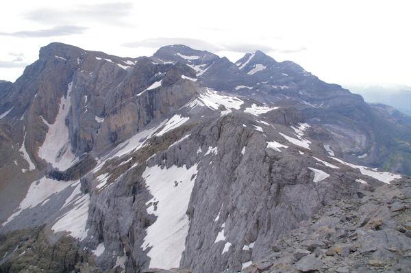 Pics de la Cascade,Epaule, Pic et Cylindre du Marboré, Mont Perdu
