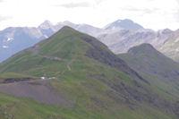 Le Pic de Tentes et le Pic de la Pahule, derriere, le Pic Long et le Pic de Campbieil