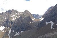 La Tour du Marbore dans l'echancrure du Col des Sarradets