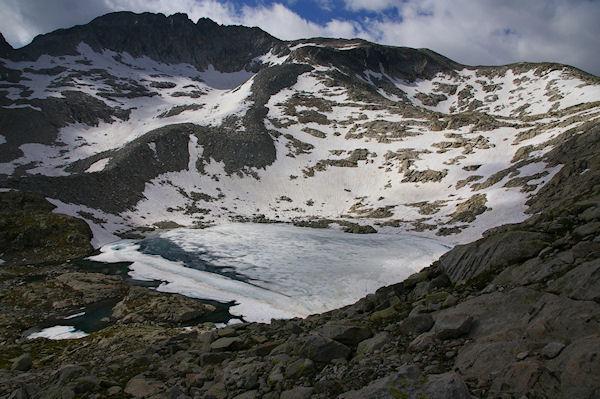 Le Lac Bleu encore gelé fin juillet 2008