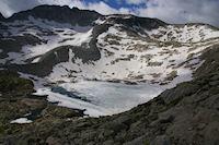 Le Lac Bleu encore gele fin juillet 2008