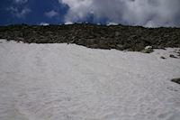 Le neve terminal avant le sommet du Turon de Neouvielle