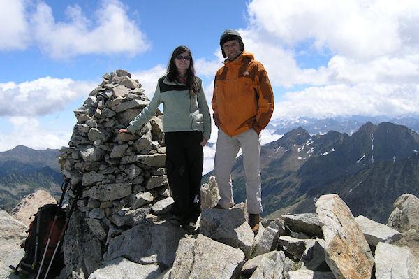 Camille et Jacques au sommet du Turon de Néouvielle