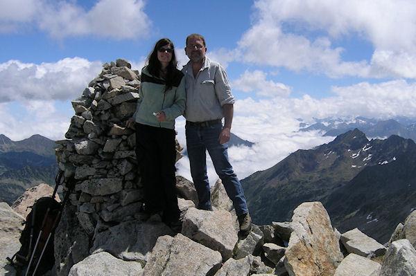 Camille et Fred au sommet du Turon de Néouvielle