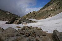 Descente de la Coume Estrete dans les neves