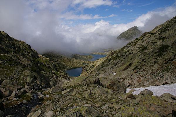 Les Lacs Estelat Supérieur et Inférieur depuis la Coume Estrète
