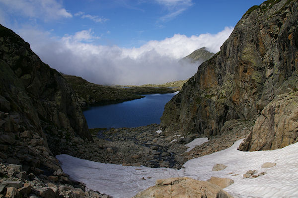 Le Lac Estelat Supérieur depuis la partie finale de la Coume Estrète