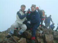 Deux Pyreneistes heureux au sommet du Vignemale