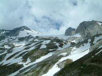 Le glacier d'Ossoue encadre par le pic du Montferrat et le petit Vignemale