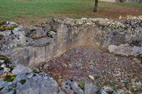 Vieux bassin asseché à Prat del Gras
