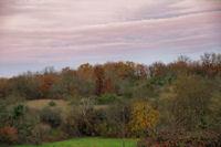 Ciel d_automne au dessus d_Aujols