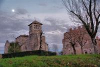 L_église et l_ancienne abbaye d_Aujols