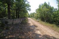 Le chemin remontant vers le Pech Pialat