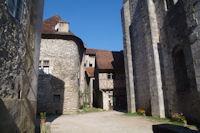 Devant l'Abbaye St Pierre a Marcilhac sur Cele