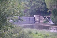 Le barrage sur le Cele a Marcilhac sur Cele