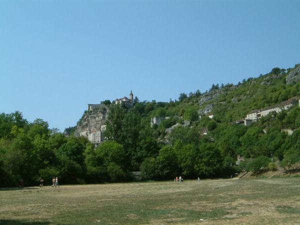 Arrivée en vue de Rocamadour
