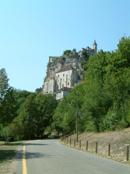 Vue du chateau de Rocamadour