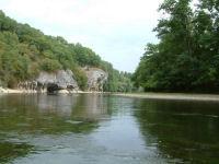 Les falaises du Pech de Baussonne sur la Dordogne