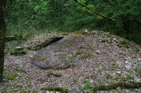 Le dolmen de Recobert effondre