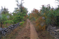 Le chemin au dessus de Cayrac