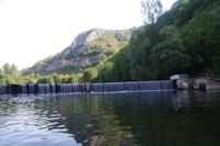 Le barrage de Marcilhac sur Cele
