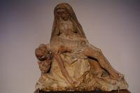 Sculpture bois dans la salle du tresor de la Cathedrale d'Albi