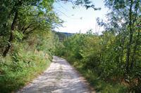 Le chemin descendant vers St Amancet