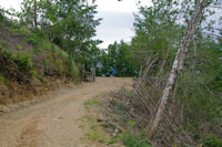 Chemin forestier au dessus de la Durencuse