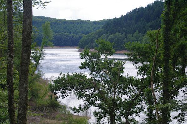 Le Lac des Cammazes depuis la forêt de Crabemorte