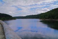 le Lac des Cammazes depuis le Barrage de Gravette