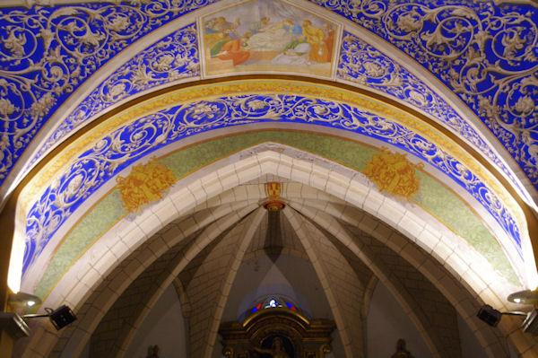 Le plafond de l_église Notre Dame de l_Assomption
