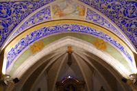 Le plafond de l'eglise Notre Dame de l'Assomption