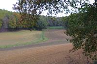 Labours d'automne dans la vallee du ruisseau de la Rauze