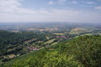 Vue de la plaine de Soual depuis le castrum de Contrast