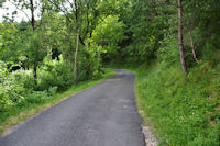 La route menant à La Pouzaque