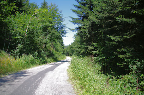 La route au dessus du Lac de La Galaube