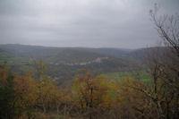 Le confluent des vallee du Bombic et de l'Aveyron depuis les Suquets