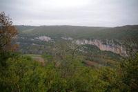 La vallee de l'Aveyron depuis le Pech des Panissous