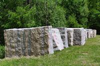 Des blocs de granit a Belherbette