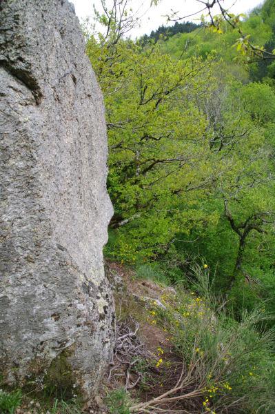 Petit passage délicat au dessus du Gouffre de Malamort