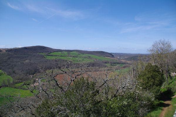 La vallée de la Vère depuis Puycelci