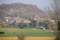 L'eglise et le chateau de Mezens