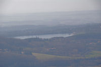 Le lac de St Ferreol depuis l'oppidum de Berniquaut