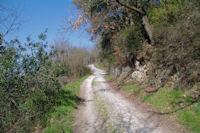 Le chemin remontant au dessus de St Alby