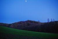 Lever de lune dans le vallon du Rabistau