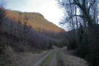 Le chemin remontant la vallee du ruisseau de Laussiere