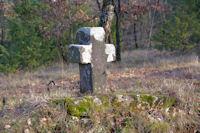 Vieille croix entre Les Closes et Peyralade