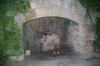 La cheminee des cuisines dans l'ancienne Commanderie des Templiers de Vaour